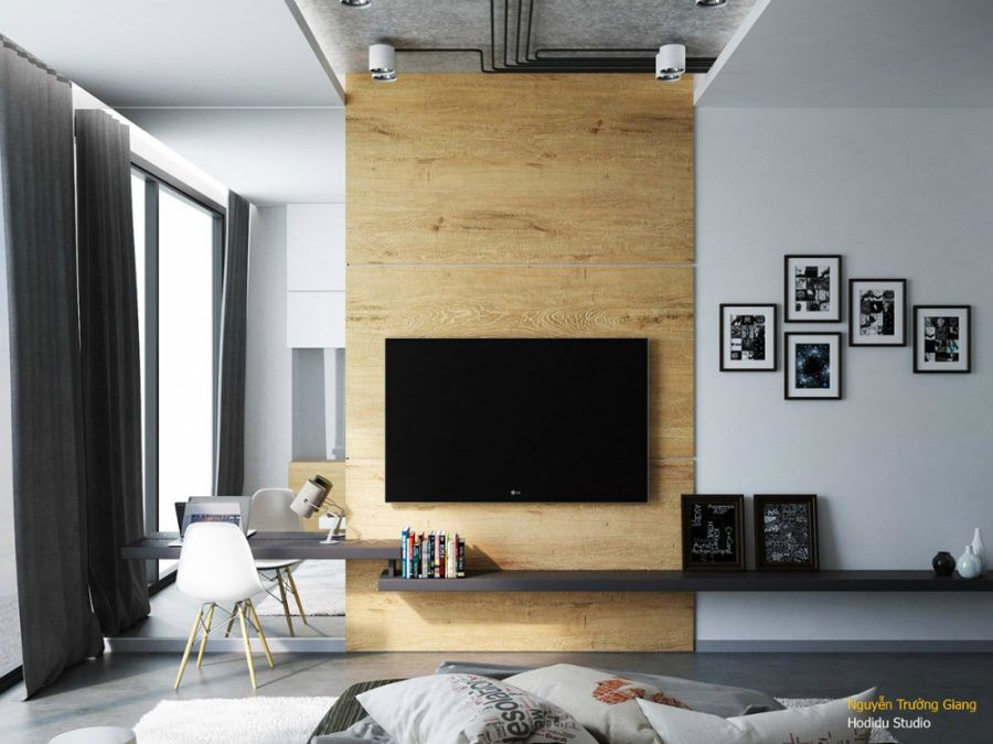 aranżacja ściany tv