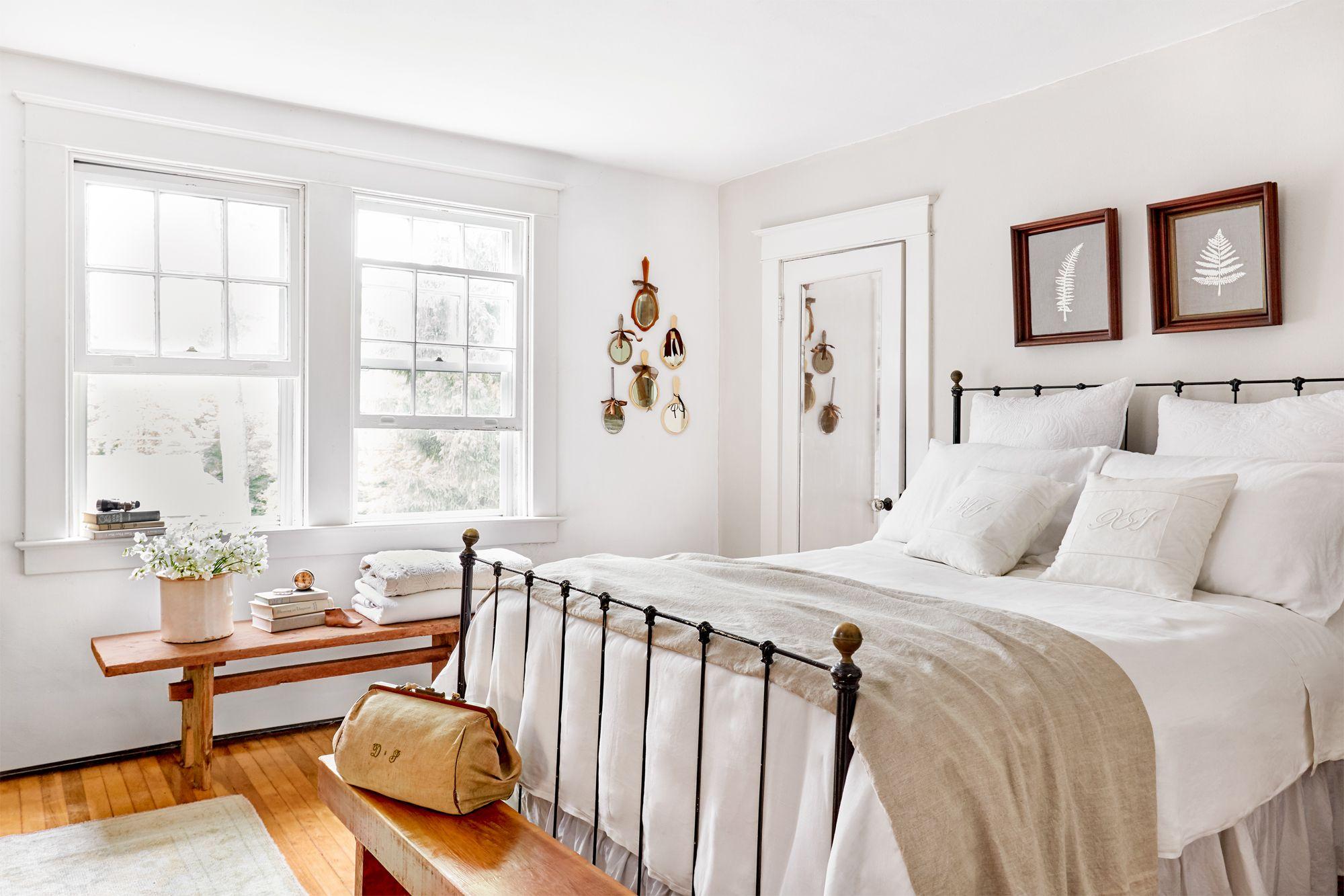 kolory w sypialni biały