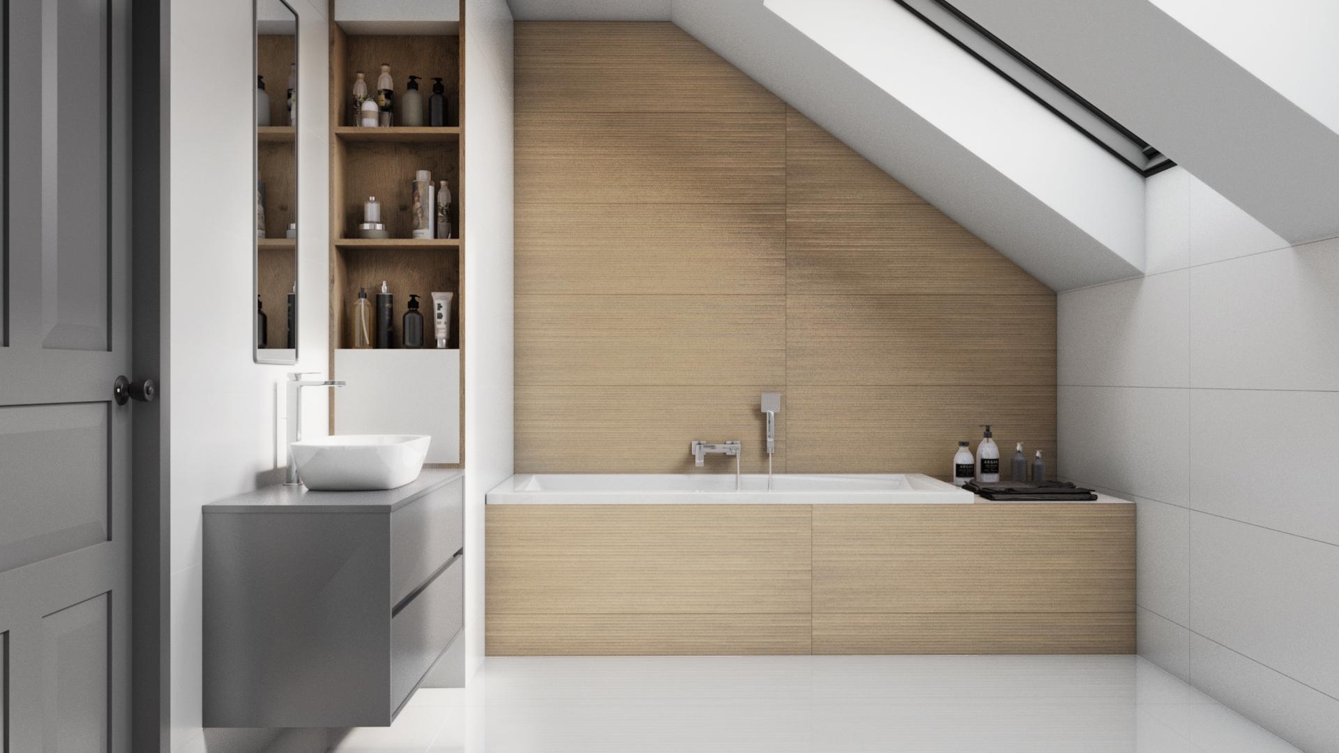 biała płytka podłogowa w łazience