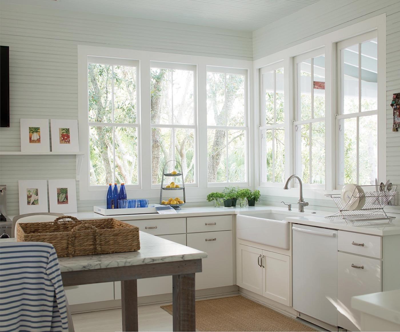 modne okno w kuchni