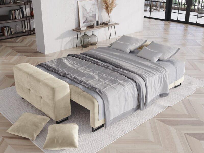 sofa rozkładana beżowa sfmeble