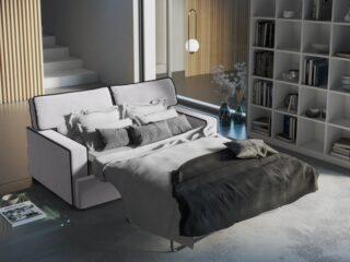 sofa rozkładana jasnoszara sfmeble