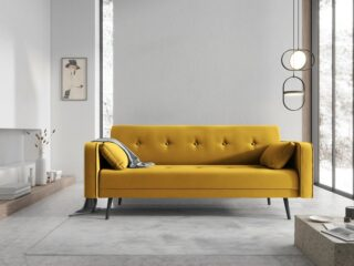 sofa rozkładana żółta sfmeble