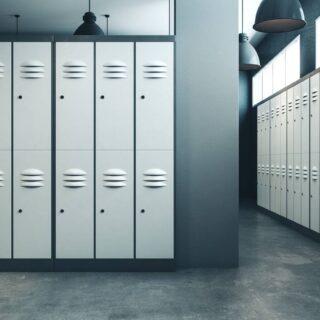 Metalowa szafka gospodarcza w nowoczesnym zakładzie pracy 9